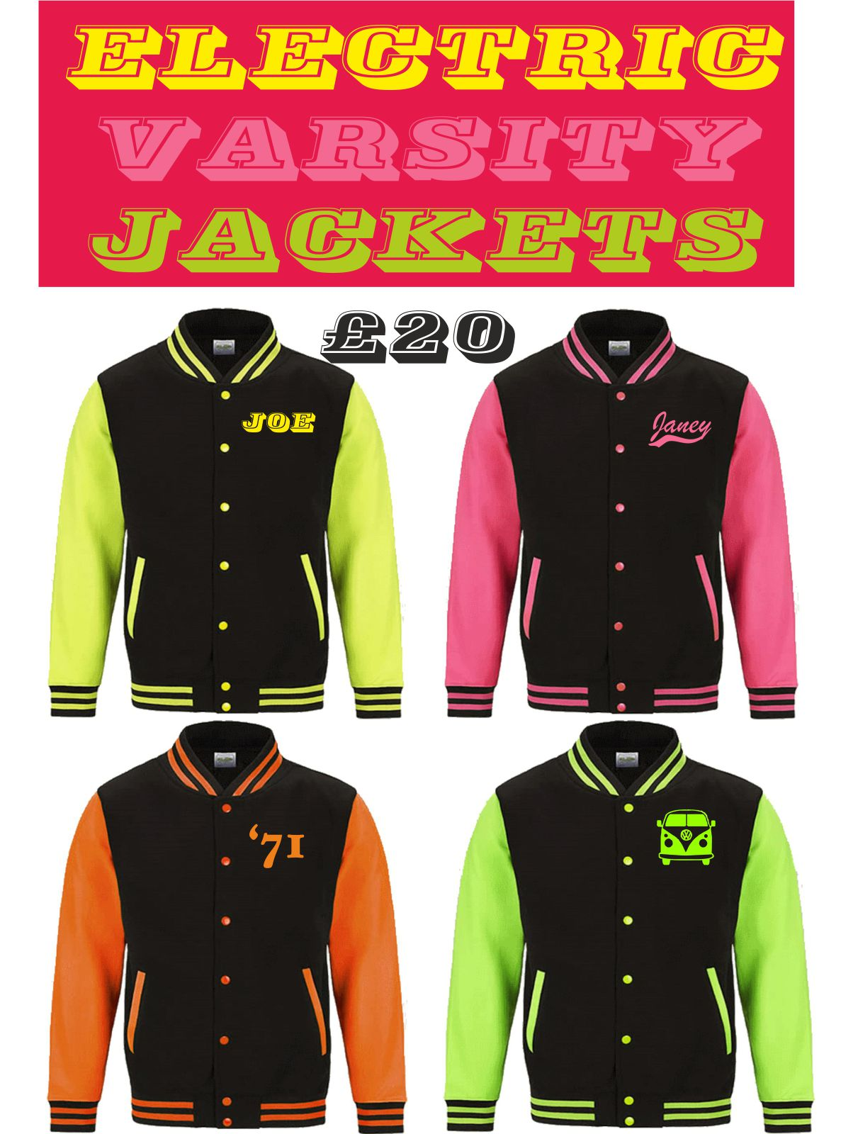 'Electric' Varsity Jacket